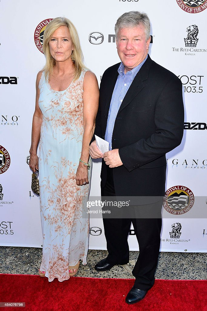 Actor Larry Wilcox and wife Marlene Harmon attend the Festival of Arts Celebrity Benefit Concert and Pageant on August 23, 2014 in Laguna Beach, California.