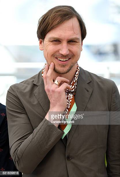 Actor Lars Eidinger attends the 'Personal Shopper' photocall during the 69th annual Cannes Film Festival at the Palais des Festivals on May 17 2016...