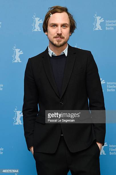 Actor Lars Eidinger attends the 'Sworn Virgin' photocall during the 65th Berlinale International Film Festival at Grand Hyatt Hotel on February 12...