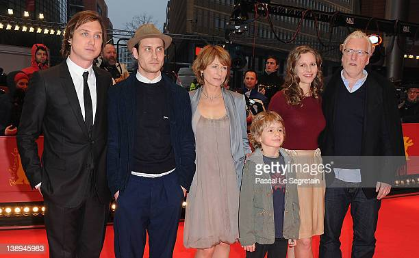 Actor Lars Eidinger Sebastian Zimmler Corinna Harfouch Picco von Groote and Ernst Stoetzner attend the 'Was Bleibt' Premiere during day six of the...