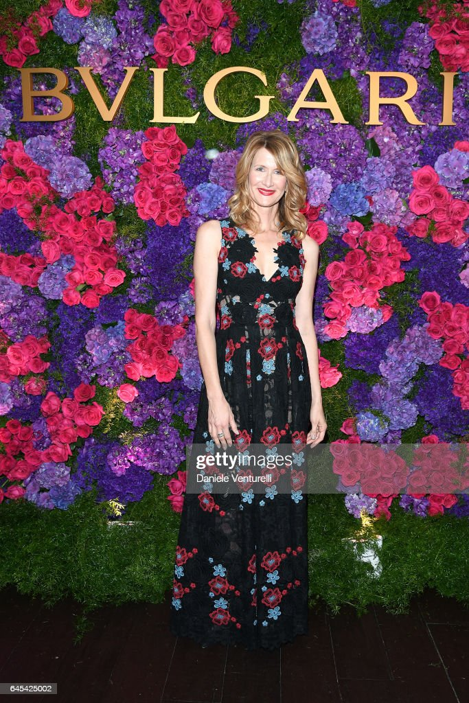 Actor Laura Dern attends Bulgari's Pre-Oscar Dinner at Chateau Marmont on February 25, 2017 in Hollywood, United States.