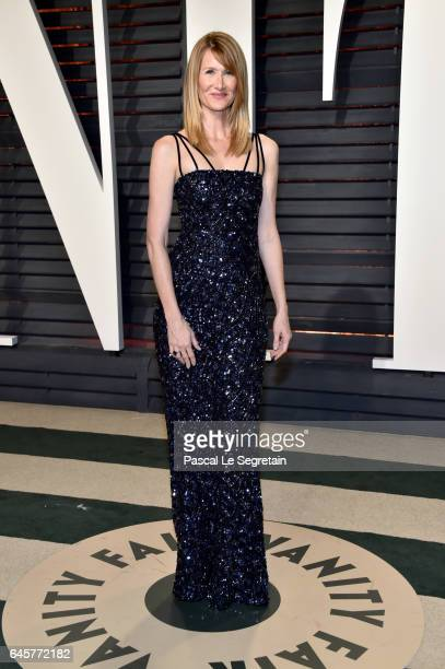 Actor Laura Dern attends the 2017 Vanity Fair Oscar Party hosted by Graydon Carter at Wallis Annenberg Center for the Performing Arts on February 26...
