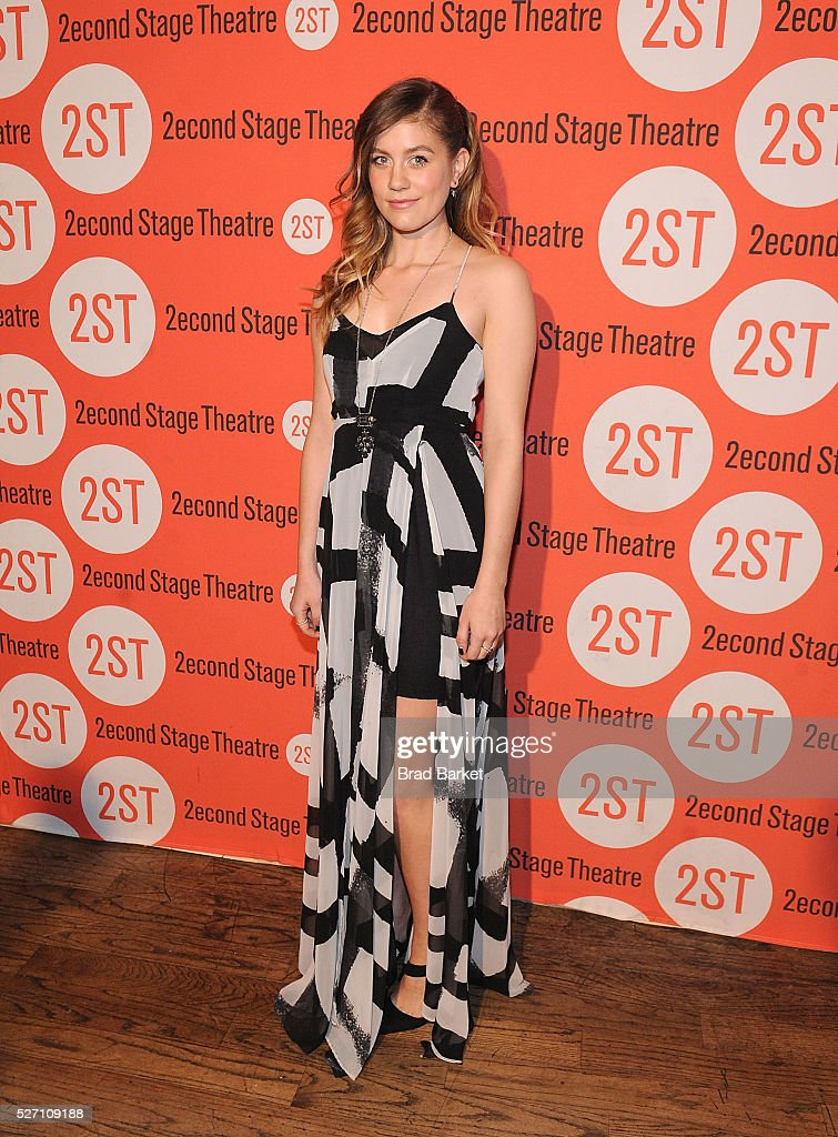 Actor Laura Dreyfuss attends 'Dear Evan Hansen' Off-Broadway Opening Celebration - Party at John's Pizzeria on May 1, 2016 in New York City.