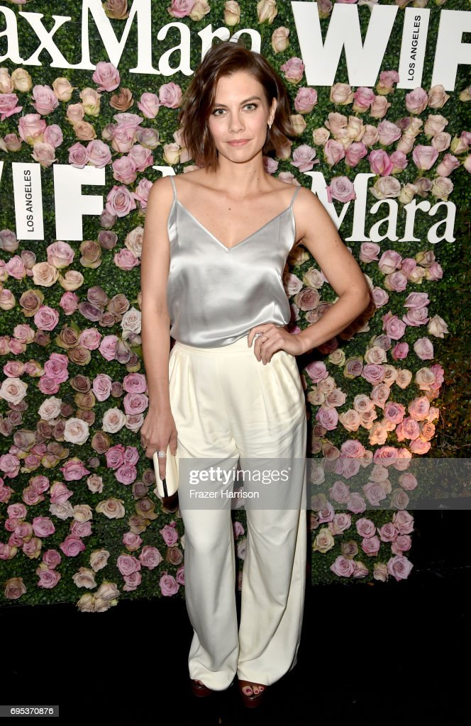 Actor Lauren Cohan, wearing Max Mara, at Max Mara Celebrates Zoey Deutch - The 2017 Women In Film Max Mara Face of the Future at Chateau Marmont on June 12, 2017 in Los Angeles, California.