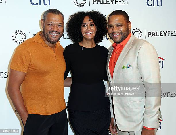 Actor Laurence Fishburne actress Tracee Ellis Ross and Anthony Anderson attend The Paley Center for Media's PaleyFest 2014 Fall TV Preview ABC at The...
