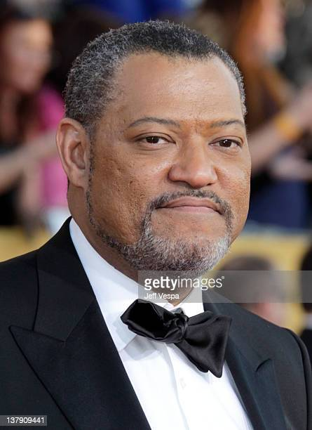 Actor Laurence Fishburne arrives at the 18th Annual Screen Actors Guild Awards held at The Shrine Auditorium on January 29 2012 in Los Angeles...