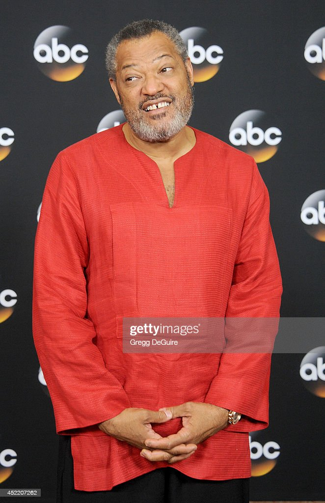 Actor <a gi-track='captionPersonalityLinkClicked' href=/galleries/search?phrase=Laurence+Fishburne&family=editorial&specificpeople=206347 ng-click='$event.stopPropagation()'>Laurence Fishburne</a> arrives at the 2014 Television Critics Association Summer Press Tour - Disney/ABC Television Group at The Beverly Hilton Hotel on July 15, 2014 in Beverly Hills, California.