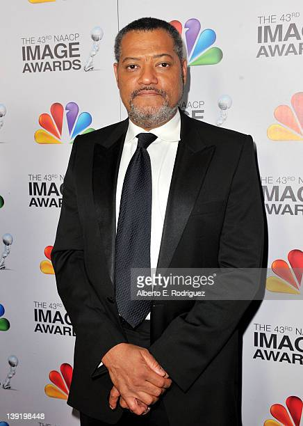 Actor Laurence Fishburne arrives at the 43rd NAACP Image Awards held at The Shrine Auditorium on February 17 2012 in Los Angeles California