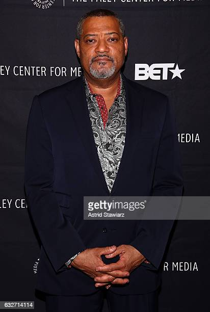 Actor Laurence Fishburne attends BET's 'Madiba The Definitive Story Of Nelson Mandela' at The Paley Center for Media on January 25 2017 in New York...
