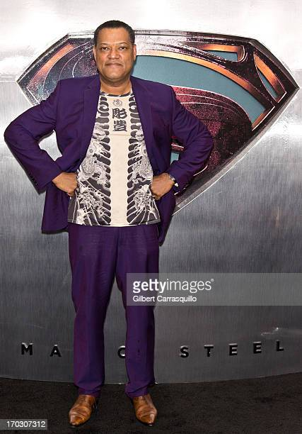 Actor Laurence Fishburne attends 'Man Of Steel' World Premiere at Alice Tully Hall at Lincoln Center on June 10 2013 in New York City
