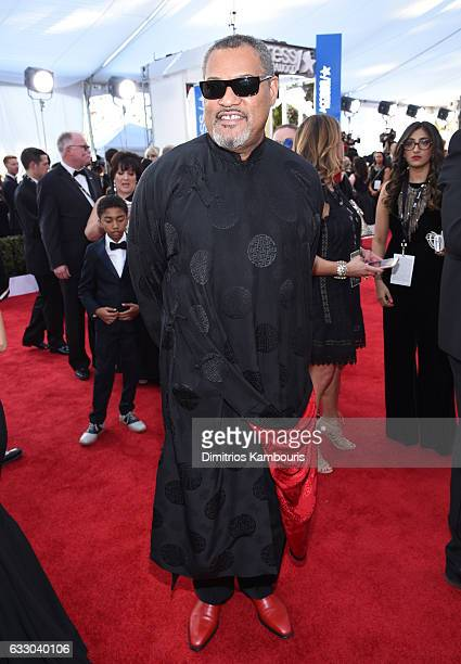 Actor Laurence Fishburne attends The 23rd Annual Screen Actors Guild Awards at The Shrine Auditorium on January 29 2017 in Los Angeles California...
