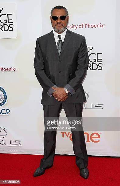 Actor Laurence Fishburne attends the 46th NAACP Image Awards presented by TV One at Pasadena Civic Auditorium on February 6 2015 in Pasadena...