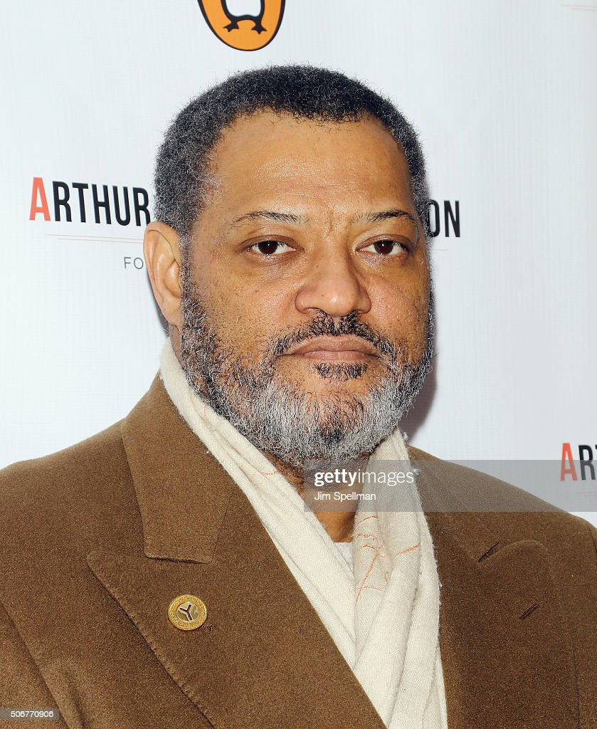 Actor Laurence Fishburne attends the Arthur Miller - One Night 100 Years Benefit at Lyceum Theatre on January 25, 2016 in New York City.