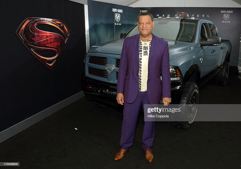 Actor <a gi-track='captionPersonalityLinkClicked' href=/galleries/search?phrase=Laurence+Fishburne&family=editorial&specificpeople=206347 ng-click='$event.stopPropagation()'>Laurence Fishburne</a> attends the 'Man of Steel' NYC premiere sponsored by RAM at Alice Tully Hall at Lincoln Center on June 10, 2013 in New York City.