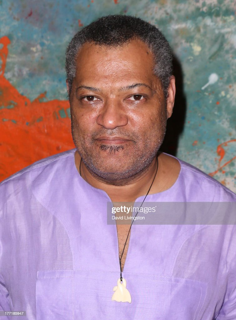 Actor Laurence Fishburne attends the opening night of Billy Zane's 'Seize The Day Bed' solo art exhibition at G+ Gulla Jonsdottir Design on August 21, 2013 in Los Angeles, California.