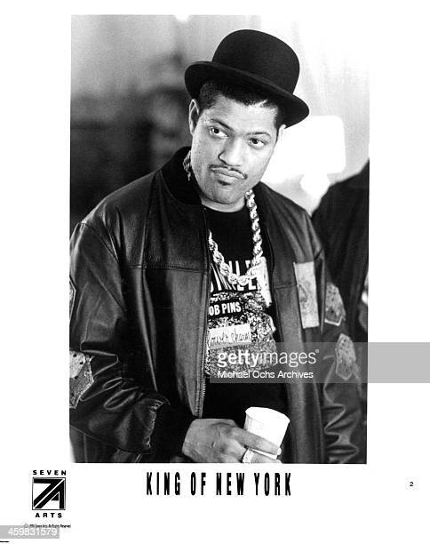 Actor Laurence Fishburne on set of the movie 'King of New York ' circa 1990