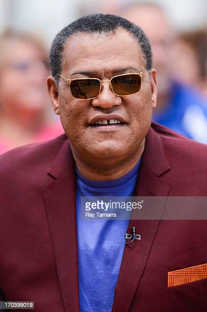 Actor Laurence Fishburne tapes an interview at 'Good Morning America' at the ABC Times Square Studios on June 12 2013 in New York City