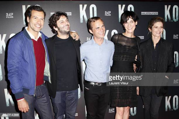 Actor Laurent Lafitte Actor Pio Marmai Director Fabrice Gobert Actress Clotilde Hesme and Actress Chiara Mastroianni attend 'KO' Paris Premiere at...
