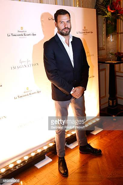 Actor Laurent Lafitte attends 'ShangriLa Hotels and Resorts' presents its new Hotel in Mauritius 'Le Touessrok Resort and Spa' Held at Paris...