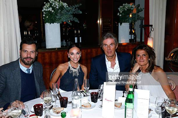 Actor Laurent Lafitte CEO of Hotel Barriere Dominique Desseigne with his companion Dancer Alexandra Cardinale and Miss Pierre Gagnaire attend the...