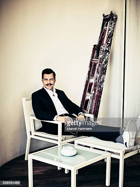 Actor Laurent Lafitte is photographed for Self Assignment on May 15 2016 in Cannes France
