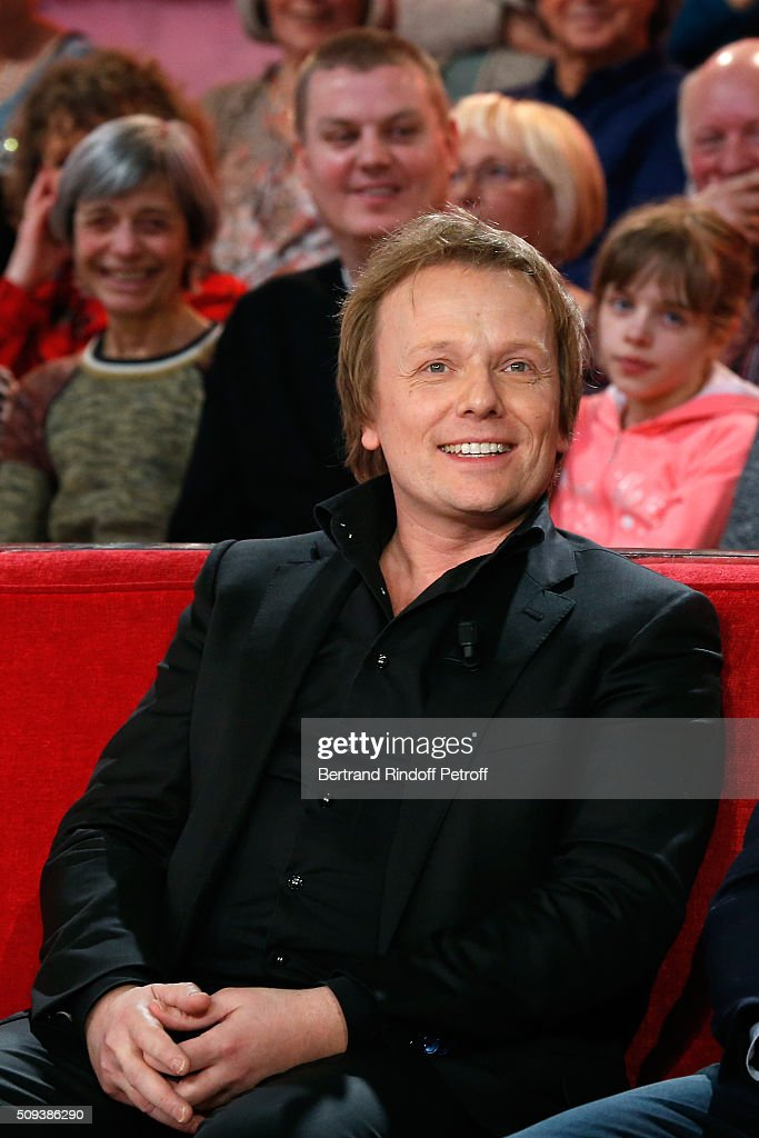 Actor Laurent Stocker presents the Movie 'Les naufrages' during the 'Vivement Dimanche' French TV Show at Pavillon Gabriel on February 10, 2016 in Paris, France.