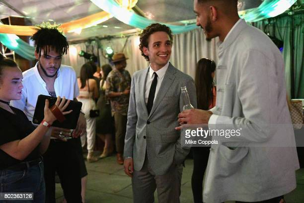 Actor Laurie Davidson speaks to guests during TNT's Season One 'Will' Premiere After Party at Bryant Park on June 27 2017 in New York City 26058_015