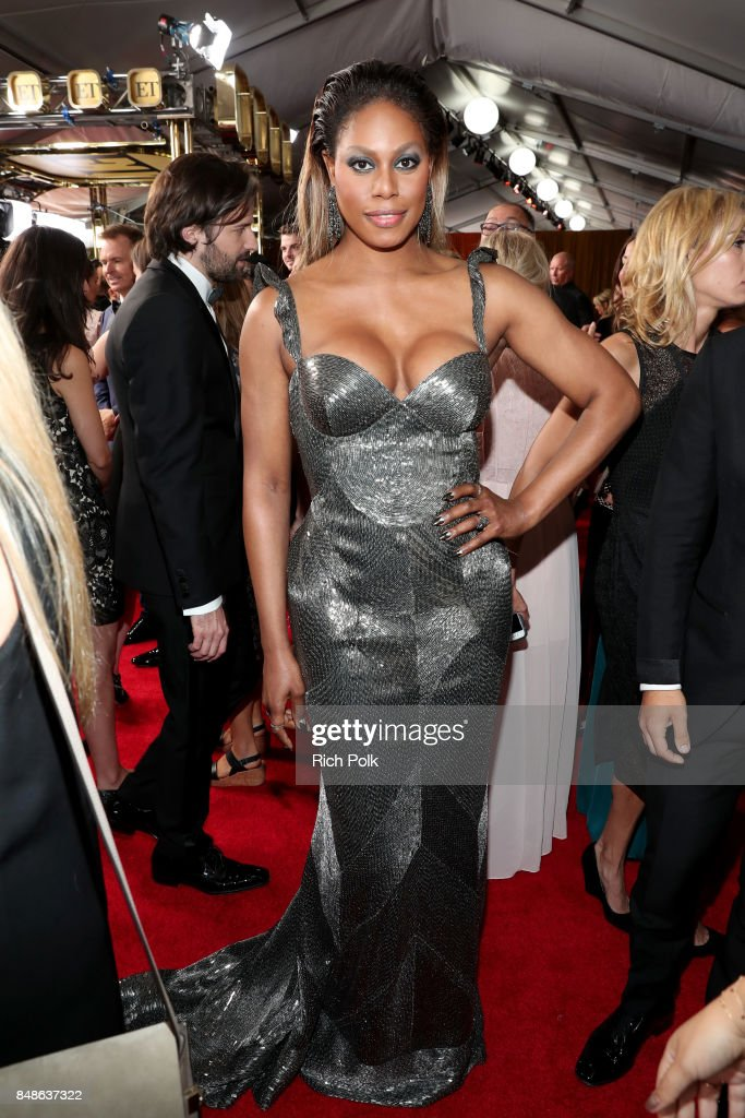 Actor Laverne Cox walks the red carpet during the 69th Annual Primetime Emmy Awards at Microsoft Theater on September 17, 2017 in Los Angeles, California.
