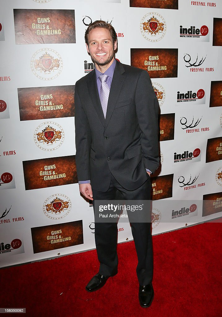 Actor Lawrence Dwyer attends the 'Guns, Girls & Gambling' screening at the Laemmle NoHo 7 on December 13, 2012 in North Hollywood, California.
