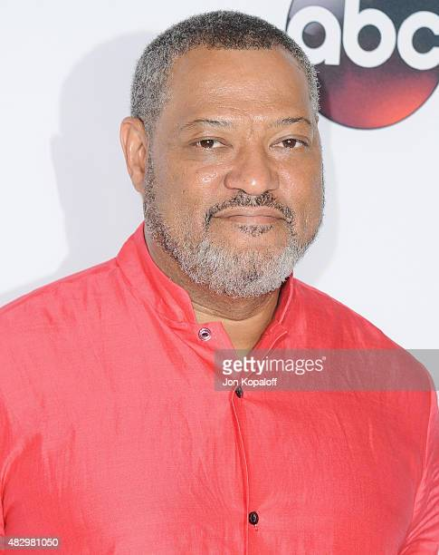Actor Lawrence Fishburne arrives at Disney ABC Television Group's 2015 TCA Summer Press Tour at the Beverly Hilton Hotel on August 4 2015 in Beverly...