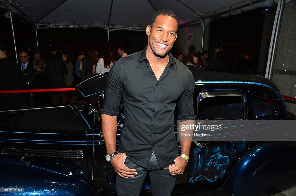 Actor Lawrence Saint-Victor attends SA Studios and Mister Cartoon VIP Screening and After Party of Warner Brothers Pictures 'Gangster Squad' at SA Studios on November 29, 2012 in Los Angeles, California.