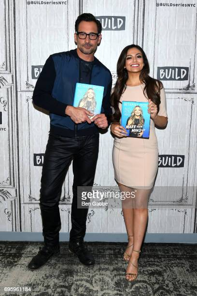 Actor Lawrence Zarian and blogger/author Bethany Mota attend the Build Series to discuss the new book 'Make Your Mind Up' at Build Studio on June 14...
