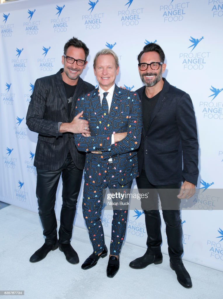 Actor Lawrence Zarian, television personality Carson Kressley and actor Gregory Zarian attend Project Angel Food's 2017 Angel Awards on August 19, 2017 in Los Angeles, California.