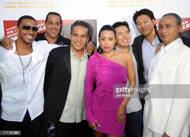 Actor Laz Alonso actor F Valentino Morales actor John Ortiz actress Mirtha Michelle director of 'Fast Furious' Justin Lin actor Sung Kang and actor...