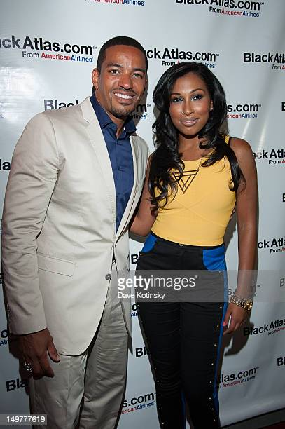 Actor Laz Alonso and Singer Melanie Fiona attend launch party The Studio Musuem on August 3 2012 in New York City