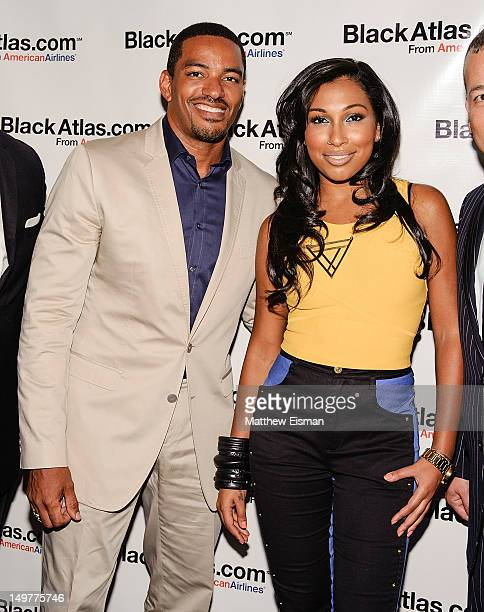 Actor Laz Alonso and singer Melanie Fiona attend the American Airlines and BlackAtlascom launch party at The Studio Musuem on August 3 2012 in New...