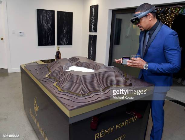Actor Laz Alonso attends Remy Martin's special evening with Jeremy Renner and Fetty Wap celebrating The Exceptional at Eric Buterbaugh Floral on June...