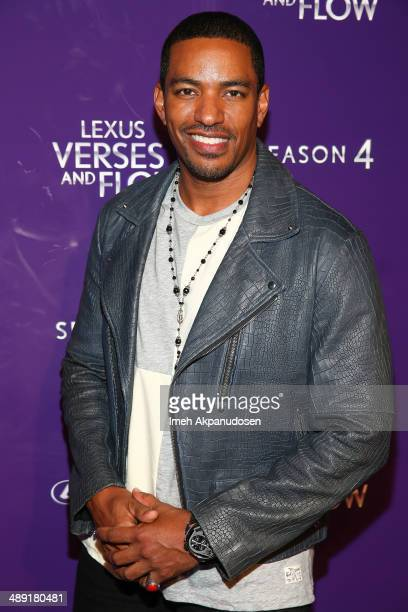 Actor Laz Alonso attends the 'Verses And Flow' Artist Performances at Siren Studios on May 9 2014 in Hollywood California