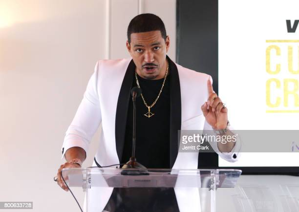 Actor Laz Alonso hosts the Culture Creators 2nd Annual Awards Brunch Presented By Motions Hair And Ciroc at Mr C Beverly Hills on June 24 2017 in...