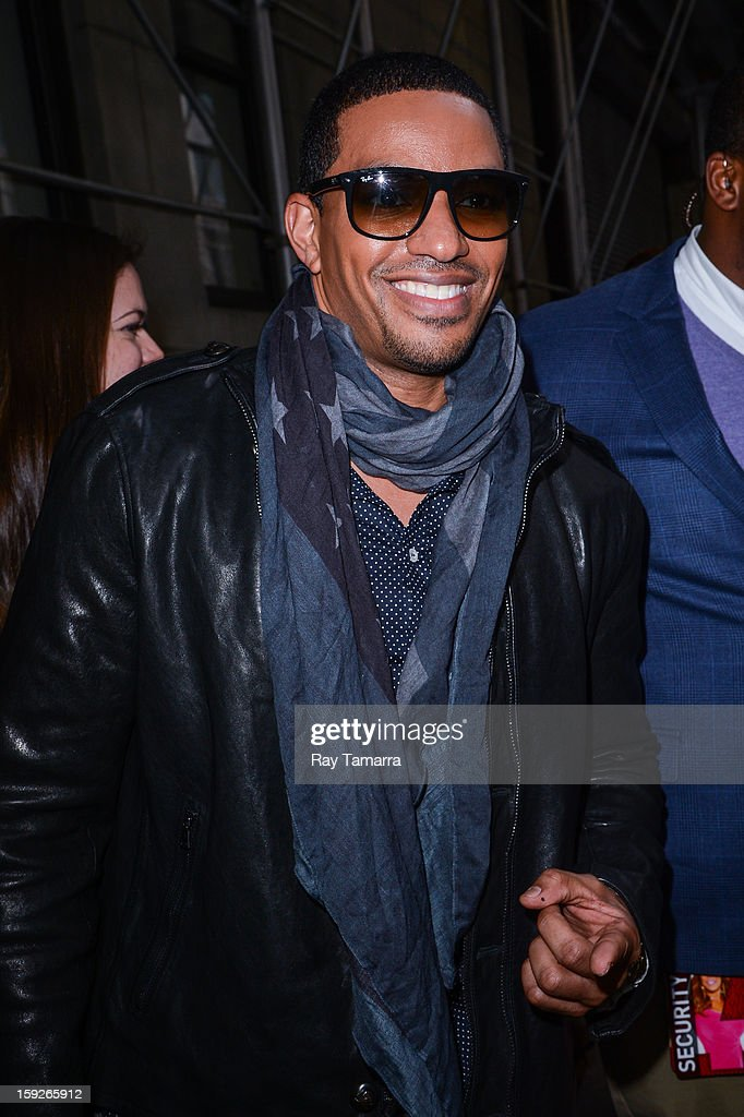 Actor <a gi-track='captionPersonalityLinkClicked' href=/galleries/search?phrase=Laz+Alonso&family=editorial&specificpeople=2179533 ng-click='$event.stopPropagation()'>Laz Alonso</a> leaves the 'Wendy Williams Show' taping at the Chelsea Television Studios on January 10, 2013 in New York City.