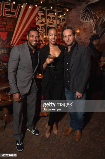 Actor Laz Alonso PR Branded Entertainment Manager at Remy Cointreau USA Naeemah Leonard and actor Josh Lucas attend the Remy Martin Culture Creators...