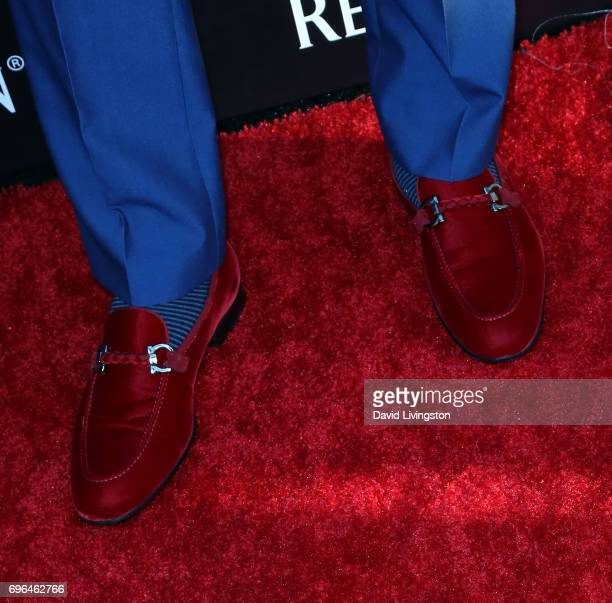 Actor Laz Alonso shoe detail attends A Special Evening presented by Remy Martin at Eric Buterbaugh Los Angeles on June 15 2017 in Los Angeles...