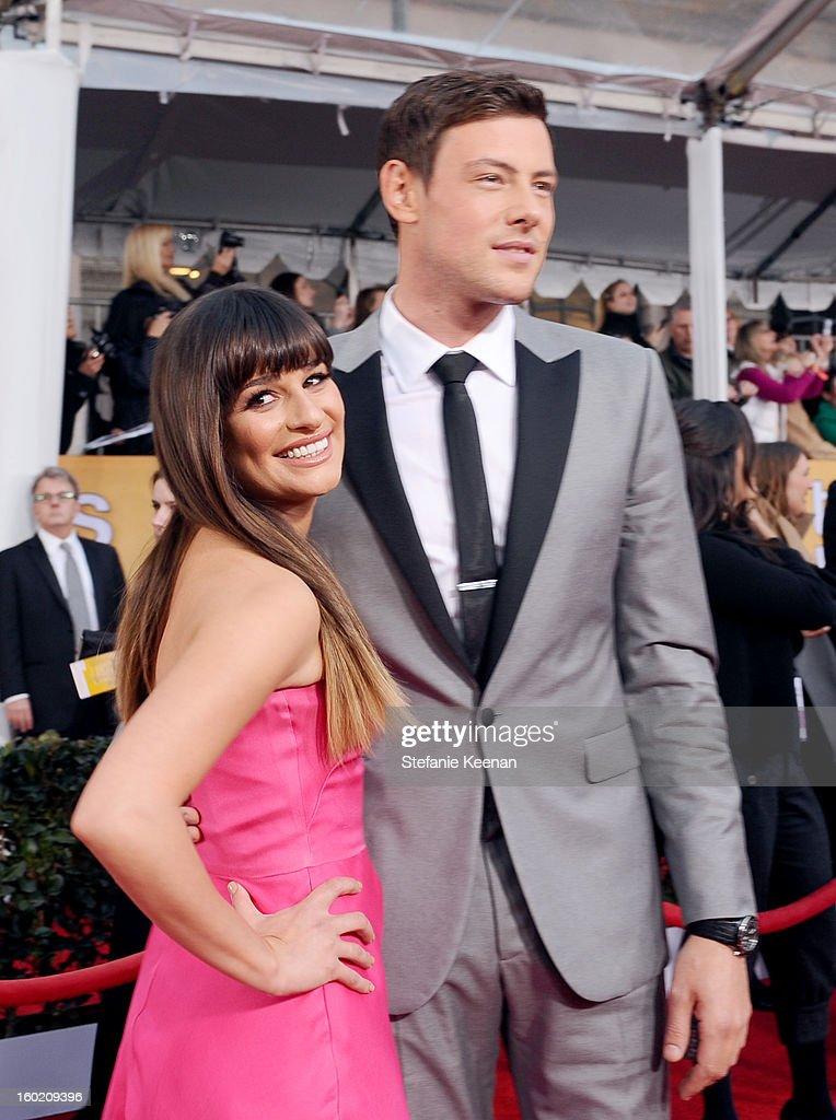 Actor Lea Michele (L) and Cory Monteith attend the 19th Annual Screen Actors Guild Awards at The Shrine Auditorium on January 27, 2013 in Los Angeles, California. (Photo by Stefanie Keenan/WireImage) 23116_025_1632.jpg