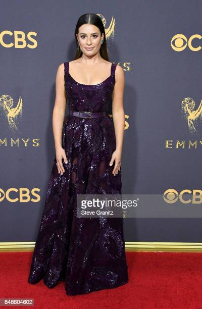 Actor Lea Michele attends the 69th Annual Primetime Emmy Awards at Microsoft Theater on September 17 2017 in Los Angeles California
