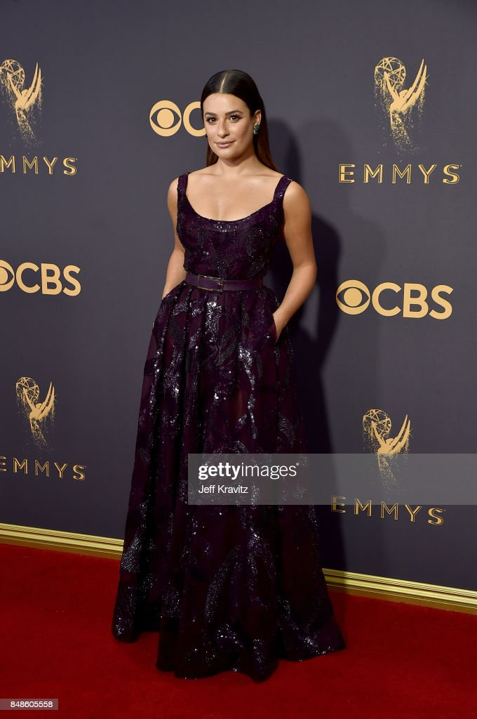 Actor Lea Michele attends the 69th Annual Primetime Emmy Awards at Microsoft Theater on September 17, 2017 in Los Angeles, California.