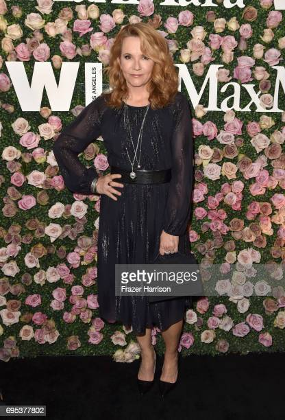 Actor Lea Thompson wearing Max Mara at Max Mara Celebrates Zoey Deutch The 2017 Women In Film Max Mara Face of the Future at Chateau Marmont on June...