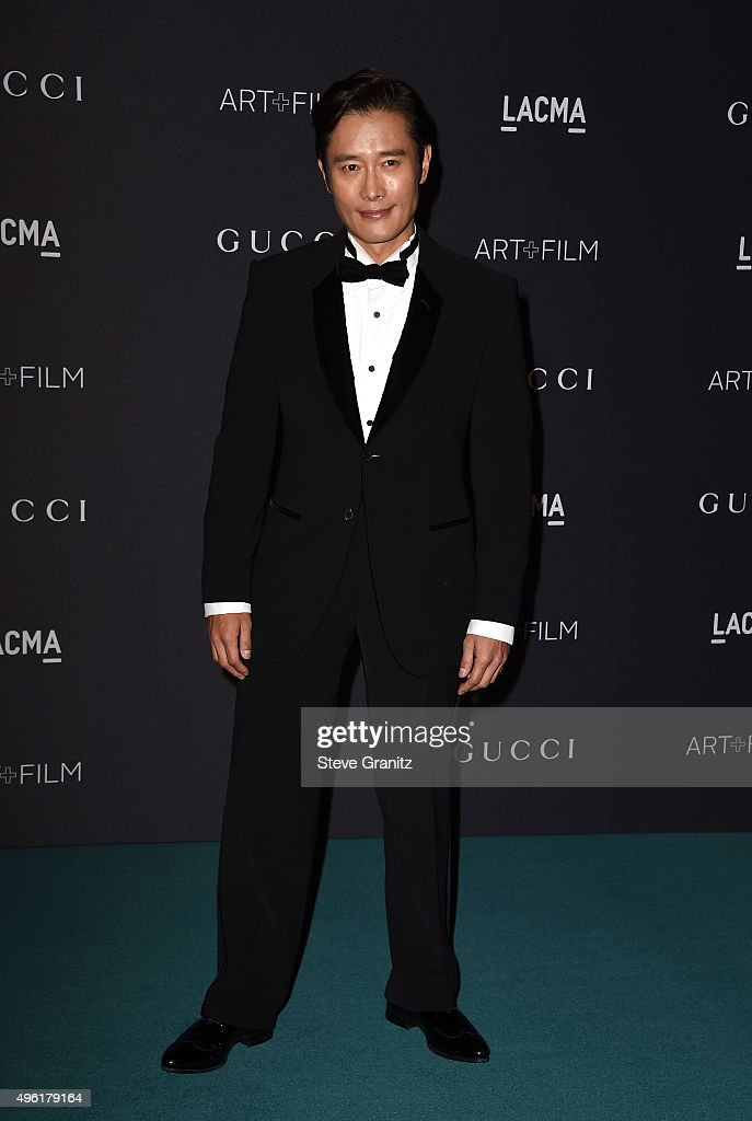 Actor Lee Byung-hun attends LACMA 2015 Art+Film Gala Honoring James Turrell and Alejandro G Iñárritu, Presented by Gucci at LACMA on November 7, 2015 in Los Angeles, California.