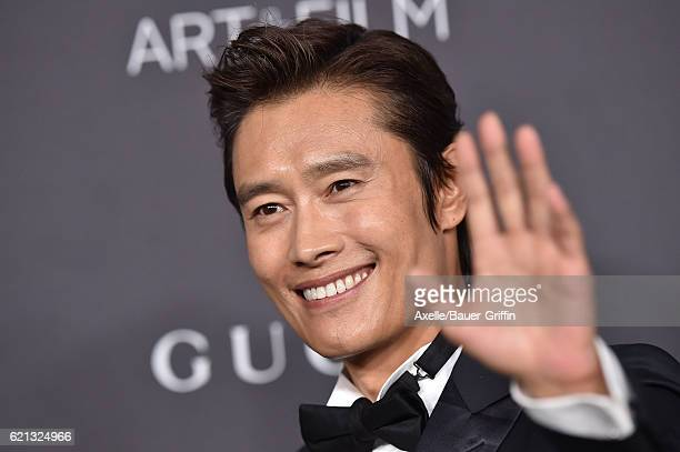 Actor Lee Byunghun attends the 2016 LACMA Art Film Gala honoring Robert Irwin and Kathryn Bigelow presented by Gucci at LACMA on October 29 2016 in...