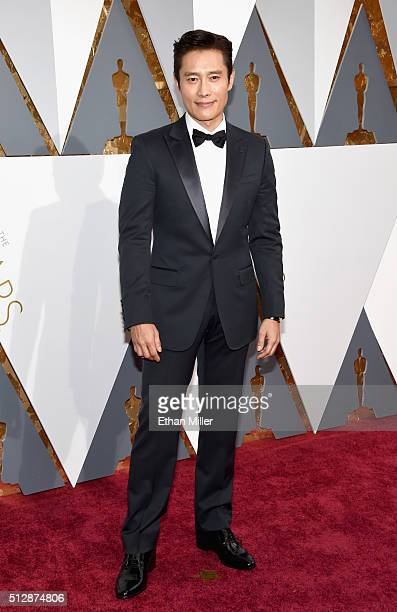Actor Lee Byunghun attends the 88th Annual Academy Awards at Hollywood Highland Center on February 28 2016 in Hollywood California