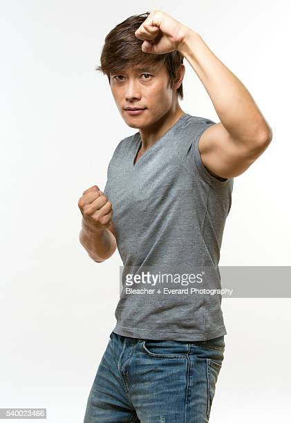 Actor Lee ByungHun is photographed for Men's Health Korea on May 5 2013 in New York City COVER IMAGE